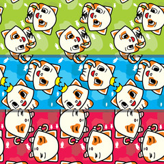 Cute Cat Seamless Pattern Collection