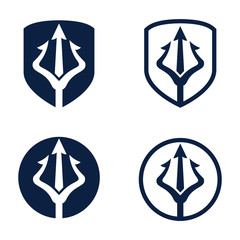 Trident logo design inspiration Vector
