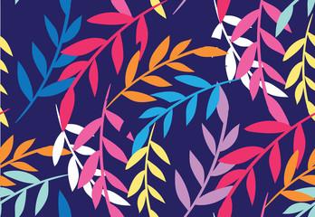 Color leaves pattern background