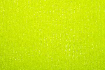Light green braided nylon mesh background.Light green braided mesh texture.