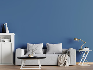mock up empty wall in hipster interior background, Scandinavian style