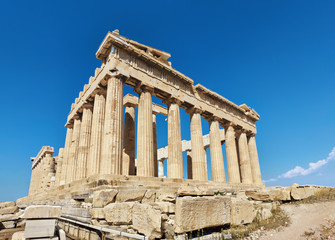 Fototapete - Parthenon temple on a bright day
