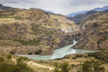 The confluence of the Baker and Chacabuco Rivers, Carretera Austral Road, Patagonia, AysŽn Region, Chile.