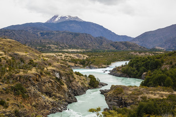 View over the Baker River, Carretera Austral Road, Patagonia, AysŽn Region, Chile.
