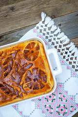 Kulebyaka. cabbage shred-pie