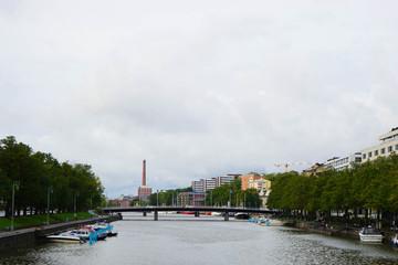 Aura River in Turku In Summer