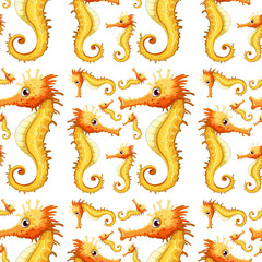 A seahorse seamless background