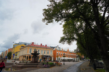Urban Streets And Building of Turku City In Finland During Summer