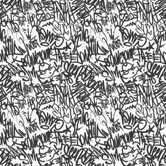 Acrylic Prints Graffiti Vector graffiti tags seamless pattern, print design.