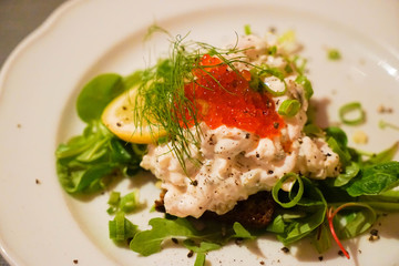 Traditional Seafood Salad  in Finland