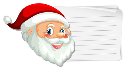 Santa on the blank note