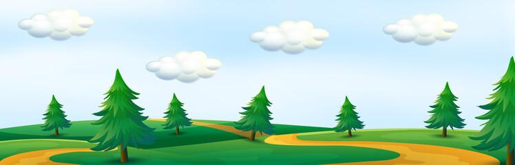 A beautiful nature panorama