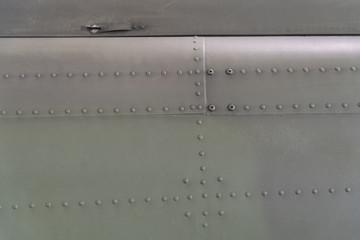 Detailansicht der Oberfläche eines Helicopters