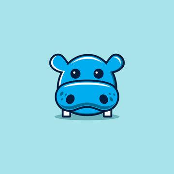 Hippo vector icon