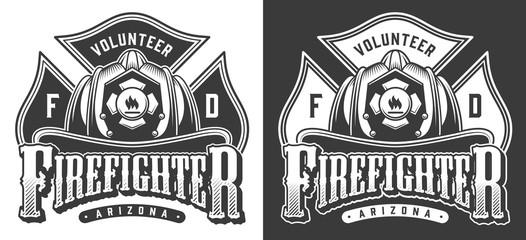 Vintage firefighter logos