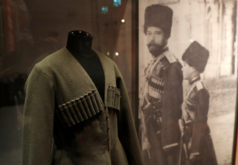 Items are seen on display at the exhibition, The Last Tsar: Blood and Revolution at the Science Museum in London