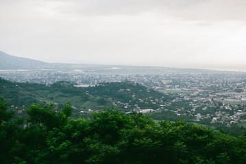 Spectacular Georgian mountain landscapes in Batumi. Panoramic view