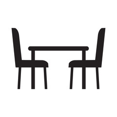 table and chairs icon-vector illustration