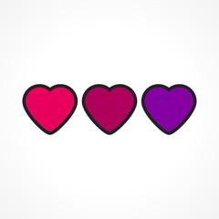 coeur coloré, vecteur