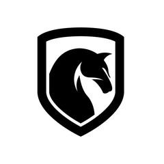 Black Horse, King Horse Logo Design Inspiration Vector