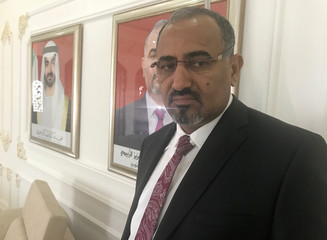 Aidaroos al-Zubaidi, leader of  Yemen's Southern Resistance, poses for a picture during Reuters interview at the headquarters of the Southern Transitional Council in Abu Dhabi