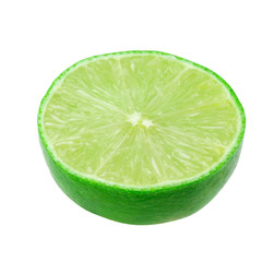 Lime slices isolated on a white background with clipping path