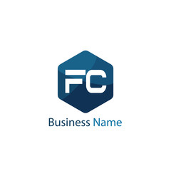 Initial Letter FC Logo Template Design