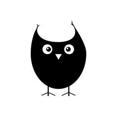 Owl simple icon flat vector illustration. Eps10