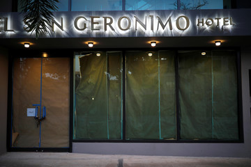 A closed hotel is seen at a touristic area of Condado, a year after Hurricane Maria devastated Puerto Rico, in San Juan
