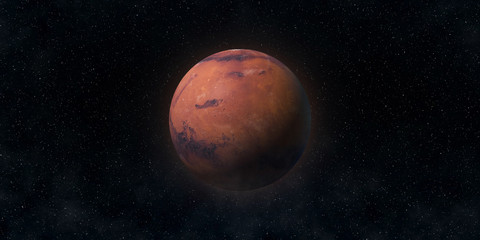 Red planet Mars. Astronomy and science concept. Elements of this image furnished by NASA