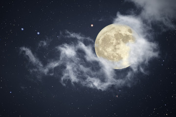 Full moon night sky Fotoväggar