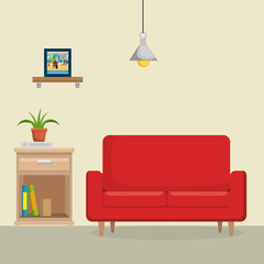 livingroom with sofa scene