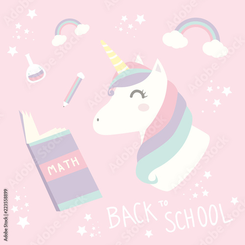 Cute Adorable Pastel Unicorn Background Wallpaper Stock Image And