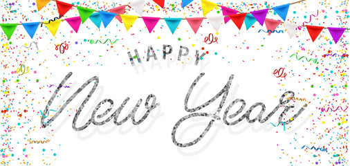 Happy New Year greeting card. Happy New Year background.