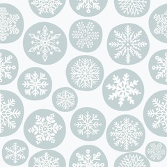 Christmas seamless pattern with snowflake