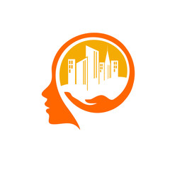 think building logo vector