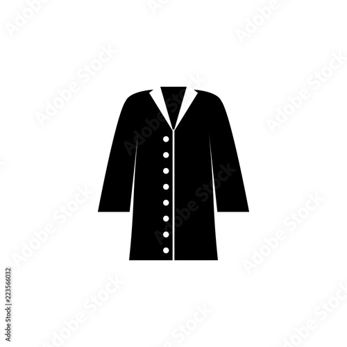 082661014e61 coat icon on white background. Clothing or Clothes or Fashion for Man Woman Icon  Vector Illustration