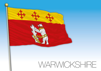 Warwickshire county flag, United Kingdom, vector illustration