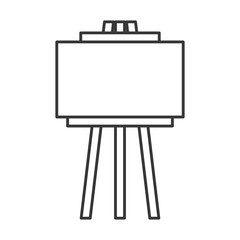 empty board tripod artistic tool