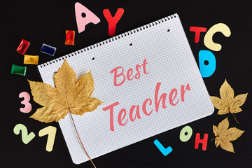 Happy Teachers' Day greeting card