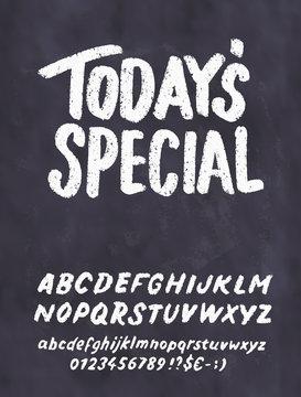 Today's special menu. Chalkboard menu template.