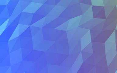 Abstract triangle geometrical blue background. Geometric origami style with gradient. 3D illustration
