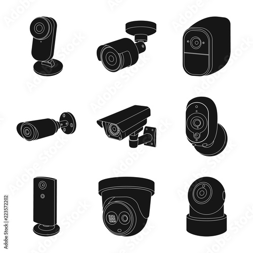 Vector Illustration Of Cctv And Camera Symbol Set Of Cctv And