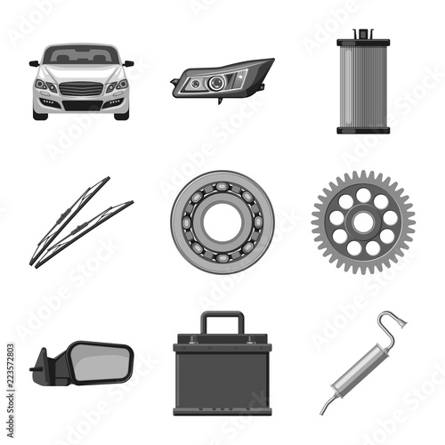 Vector Design Of Auto And Part Logo Set Of Auto And Car Stock