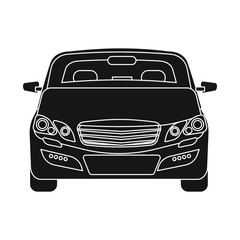 Isolated object of auto and part logo. Collection of auto and car stock vector illustration.