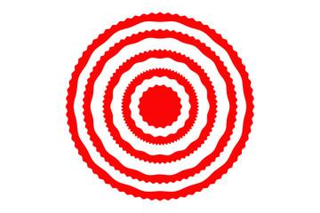 Círculos concéntricos rojos de apuntar.