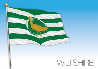 Wiltshire county ensign flag, United Kingdom, vector illustration