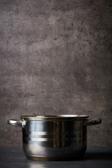 Cooking pot on kitchen table