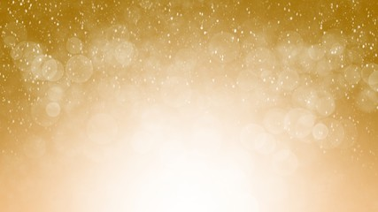 Abstract background gold blur gradient with bokeh