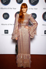 Florence Welch from Florence + The Machine, whose album 'High as Hope' has been nominated for the Mercury Prize 2018, poses for a photograph ahead of the ceremony at the Hammersmith Apollo in London